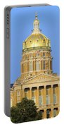 Golden Dome Of Iowa State Capital Portable Battery Charger