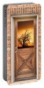 Golden Doorway Window View Portable Battery Charger