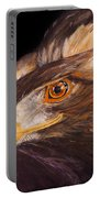 Golden Eagle Close Up Painting By Carolyn Bennett Portable Battery Charger