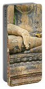 Golden Fingernails On Sitting Buddha At Wat Mahathat In Sukhothai Historical Park-thailand Portable Battery Charger
