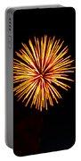 Golden Fireworks Flower Portable Battery Charger