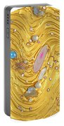 Golden Flow Of Gems Portable Battery Charger