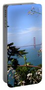 Golden Gate Bridge And Wildflowers Portable Battery Charger