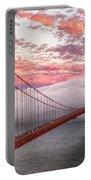 Golden Gate Bridge Sunset Evening Commute Portable Battery Charger
