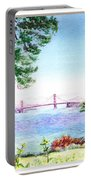 Golden Gate Bridge View Window Portable Battery Charger