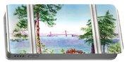 Golden Gate Bridge View Window Portable Battery Charger