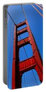 Golden Gate Tower Portable Battery Charger by Rona Black
