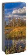 Golden Grasses Portable Battery Charger by Debra and Dave Vanderlaan