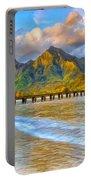 Golden Hanalei Morning Portable Battery Charger