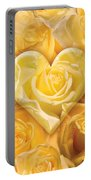 Golden Heart Of Roses Portable Battery Charger