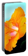 Golden Hibiscus Portable Battery Charger
