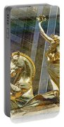Golden Horse In The City Portable Battery Charger