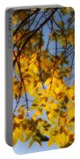 Golden Leaf Cascade Portable Battery Charger