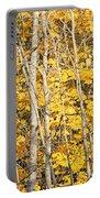 Golden Leaves In Autumn Abstract Portable Battery Charger
