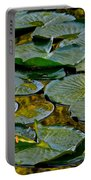 Golden Lilly Pads Portable Battery Charger