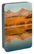 Golden Mountains  Reflection Portable Battery Charger