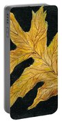 Golden Oak Leaf Portable Battery Charger