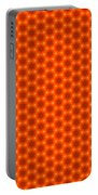 Golden Orange Honeycomb Hexagon Pattern Portable Battery Charger