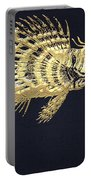Golden Parrot Fish On Charcoal Black Portable Battery Charger