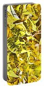 Golden Pecan Leaves Abstract Portable Battery Charger