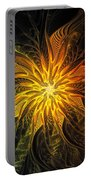Golden Poinsettia Portable Battery Charger