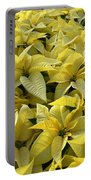 Golden Poinsettias Portable Battery Charger