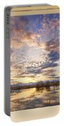 Golden Ponds Scenic Sunset Reflections 4 Yellow Window View Portable Battery Charger