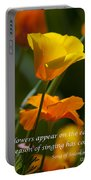 Golden Poppy Floral  Bible Verse Photography Portable Battery Charger