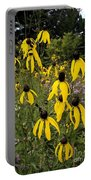 Golden Prairie Coneflower Watercolor Effect Portable Battery Charger