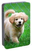 Golden Retriever Puppy Portable Battery Charger