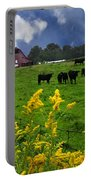 Golden Rod Black Angus Cattle  Portable Battery Charger