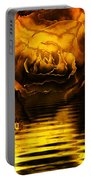 Golden Rose On The Lake Portable Battery Charger