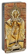 Golden Sculpture In A Hindu Temple In Patan Durbar Square In Lalitpur-nepal Portable Battery Charger