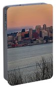 Golden Seattle Skyline Sunset Portable Battery Charger