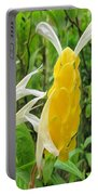 Golden Shrimp Plant Or Lollipop Plant Portable Battery Charger