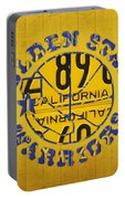 Golden State Warriors Basketball Team Retro Logo Vintage Recycled California License Plate Art Portable Battery Charger