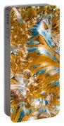 Golden Steel Swirl Portable Battery Charger