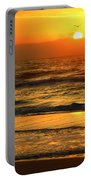 Golden Sun Up Reflection Portable Battery Charger