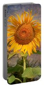 Golden Sunflower Portable Battery Charger by Adrian Evans