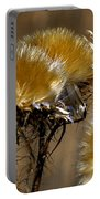 Golden Thistle Portable Battery Charger by Bill Gallagher