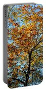 Golden Tree Lined Sky Portable Battery Charger
