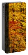 Golden Trees Glowing Portable Battery Charger by Susan Candelario