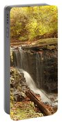 Golden Waterfall October In Ohio Portable Battery Charger