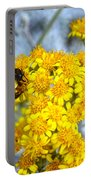 Golden Yarrow And Visitor Portable Battery Charger