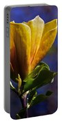 Golden Yellow Magnolia Blossom Portable Battery Charger