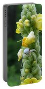 Goldenrod Crab Spider In Yellow Portable Battery Charger