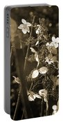 Goldenrod In Sepia Portable Battery Charger