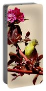 Goldfinch In Tree 031015a Portable Battery Charger