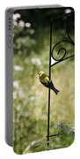 Goldfinch On The Lookout -19 Portable Battery Charger