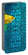 Goldfish Study 3 - Stone Rock'd Art By Sharon Cummings Portable Battery Charger